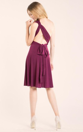 A-Line Short V-Neck Chiffon Dress With Straps