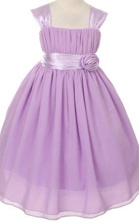 Purple flower girl dresses flower girl purple dresses june bridals cap sleeved square neck a line dress with belt and pleats mightylinksfo