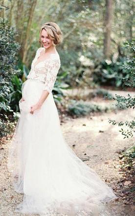 Vintage Bohemian Wedding Dress, Retro Boho Wedding Dresses - June ...