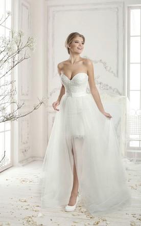 Fashion Detachable Skirt Wedding Dress on Sale - June Bridals
