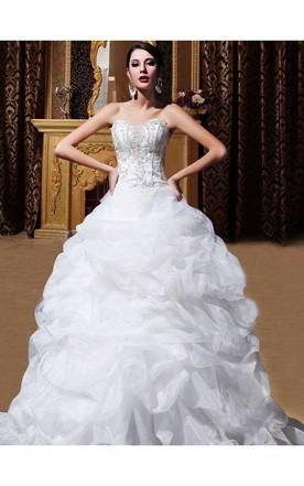 Trendy Ruffle Wedding Dress, Princess Wedding Dress - June Bridals