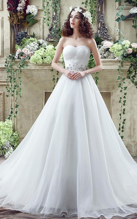 Simple style garden bridals dress simple wedding dresses for chic white sweetheart beadings 2016 wedding dress court train lace up junglespirit Images
