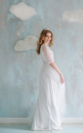 Vintage Wedding Dress With Lace   Retro Bridal Gowns - June Bridals