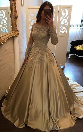 Lace Long Sleeve Prom Dress | Long Sleeved Lace Prom Dress - June ...