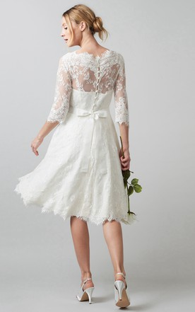 Mid Length Wedding Dresses Knee Length Wedding Dresses June - Mid Length Wedding Dresses