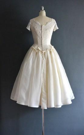 50\'s Style Wedding Dresses Tea Length on Sale - June Bridals
