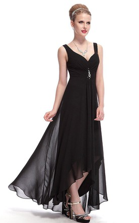 Black Vintage Prom Dress | Retro Black Prom Dress - June Bridals