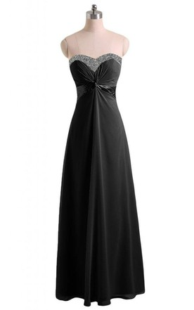 Sweetheart Empire Chiffon Gown With Beaded Bustline