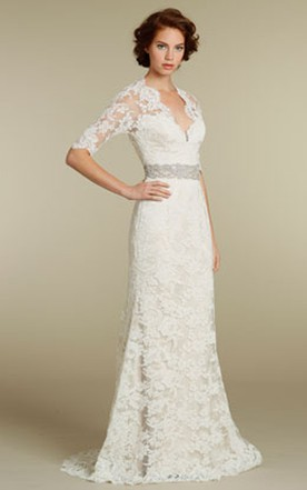 40 Age Women Wedding Gown, Over Age 40 Bridals Dress - June Bridals