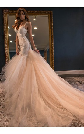Blushing Pink Wedding Dress - June Bridals