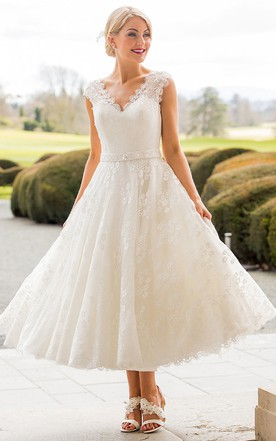 Stylish Embellished Wedding Dress, High Quality Low Price - June Bridals