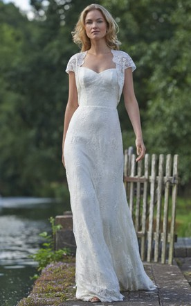 Flapper gatsby wedding dresses gatsby vintage bridals dress june floor length square cap sleeve appliqued lace wedding dress junglespirit Choice Image