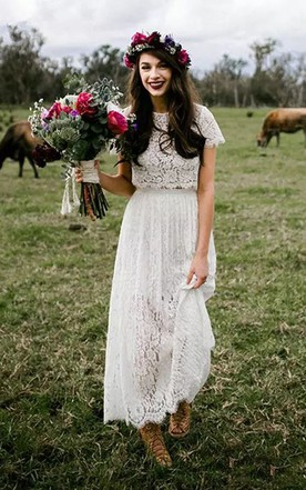 deaf77b61cff Country Style Wedding Gowns, Rustic & Western Bridals Dresses - June ...