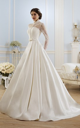 High Illusion Neckline Wedding Dresses