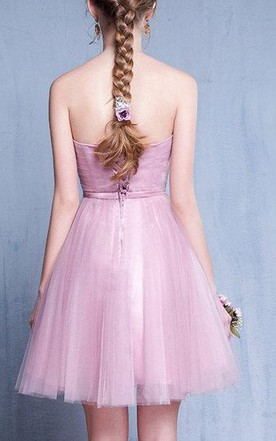 Lilac Vintage Prom Evening Bridesmaid Gown Evening Short Dress