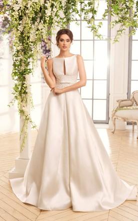 White & Gold Color Wedding Dresses On Sale - June Bridals