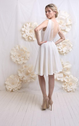 Wedding Backless Silk And Lace Weddig Dress