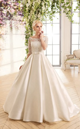 366b4864d6889 Satin Bridal Gowns, Bridal Dresses With High Quality Satin - June ...