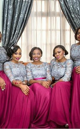 Fuschia and Turquoise Bridesmaids Dresses