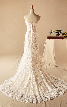 Gorgeous Sweetheart Lace Appliques Wedding Dresses 2016 Long