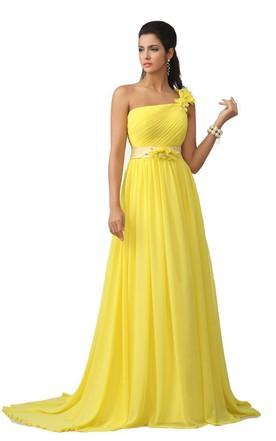 Yellow Evening Gowns