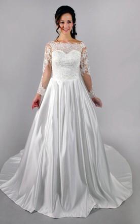 Oatmeal Wedding Dress June Bridals