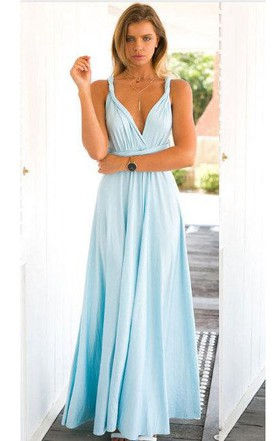Infinity Sleeveless Jersey Dress With Bow ...