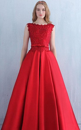 Red Lace Vintage Prom Evening Bridesmaid Bridal Gown Long Dress