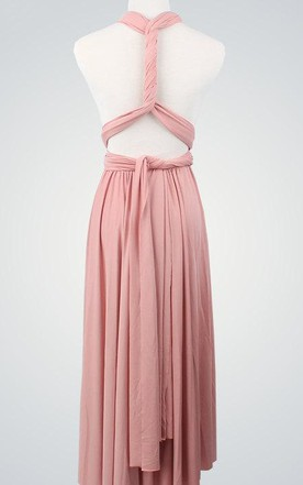 432f99a2ddb Short Infinity Convertible Bridesmaid Short Bridesmaid Cocktail Nude Pink  Wrap Evening Ball Gown Dress