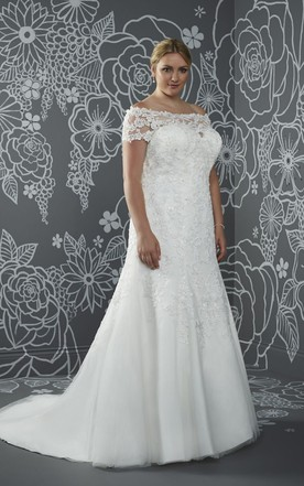 Plus Size Bridal Gowns With Short/Long Sleeves | Full Figured ...