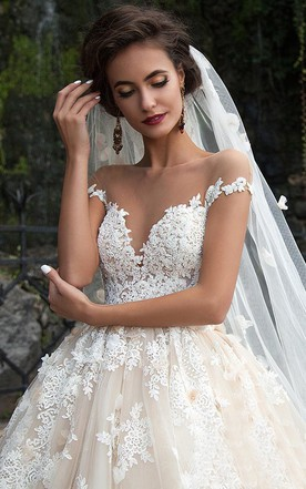 Ball gowns wedding gowns corset princess bridal dresses june bridals ball gown mini jewel bell illusion beading appliques flower illusion flower chapel train button illusion tulle junglespirit Image collections