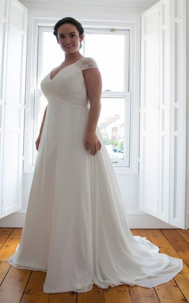 930f7004f7c3 Simple Plus Size Wedding Dresses, Plus Size Bridal Gowns - June Bridals