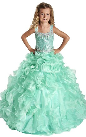 Little Girl Prom Gowns Formal Dresses For Junior June Bridals