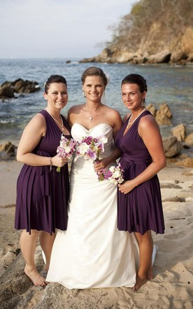 Convertible Infinity Bridesmaid Jersey Wrap Style Dress