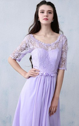 Purple Lace Bridesmaid Long Prom Evening Evening Gown Wedding Dress