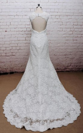 Backless wedding dress with lace lace open back bridal gowns classic v neck lace wedding dress with empire waist and open back junglespirit Choice Image