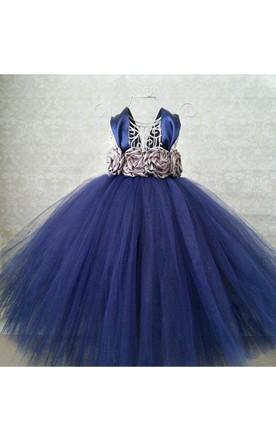 Navy Flower Girl Dress