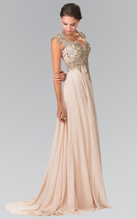 Stylish High Neck Formal Dresses June Bridals