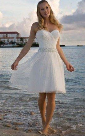 Simple short wedding dresses mini wedding dresses june bridals angelic crisscross ruched bodice short dress with beaded waist junglespirit Images