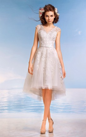 Halter Cap Sleeve Dress