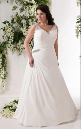Unique Large Size Bridal Dresses, Special Plus Shape Wedding Dress ...