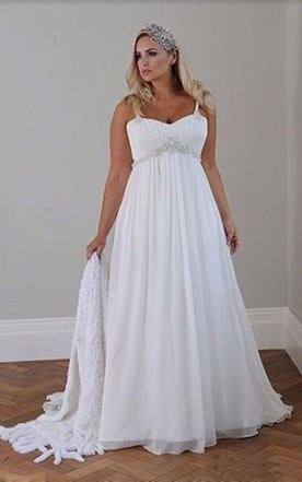 Plus Figure Beachy Wedding Gowns, Beach Large Size Bridals Dresses ...