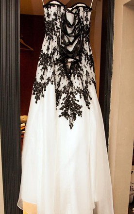 White And Black Wedding Dress Gowns   Two-Tone Bridal Dresses - June ...