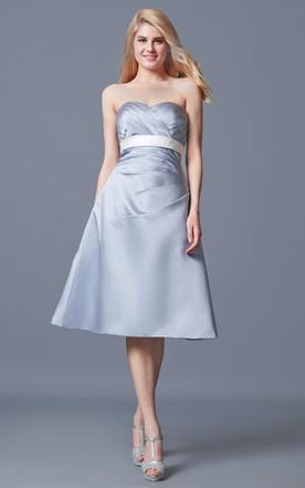 Silver Grey Cocktail Dresses June Bridals