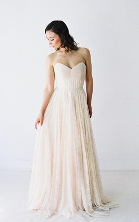 Lace Ivory Color Wedding Dresses, Ivory Bridals Dress with Lace ...