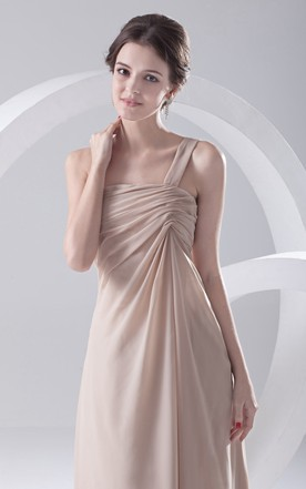 Maxi Ethereal Soft Flowing Fabric One-Strap Dress With Draping