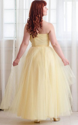 50S Tulle Vintage 1950S Prom Honeysuckle Prom Dress