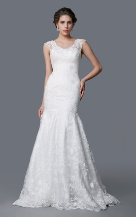 Detachable cap sleeves for wedding dress
