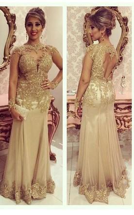 Gold Formal Dresses Cheap Prom Dress June Bridals