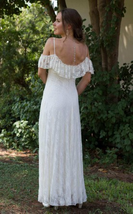 Off Shoulder Wedding Dress - June Bridals